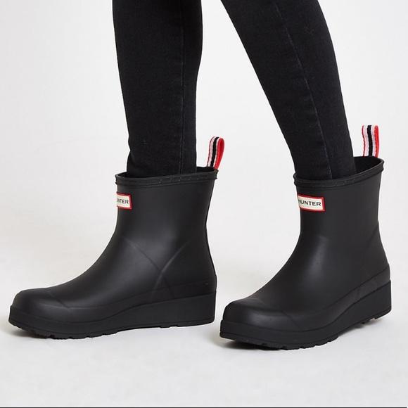 0df9e55188c Hunter Original Play Short Rain Boots: Black 8